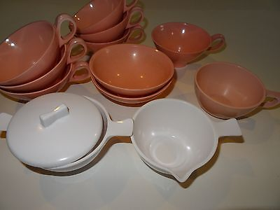 Vintage Boonton Ware Pink Mugs Cups 3206-8 + more