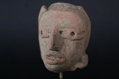 Pre  Colombian Teotihuacan Head Fragment On Stand