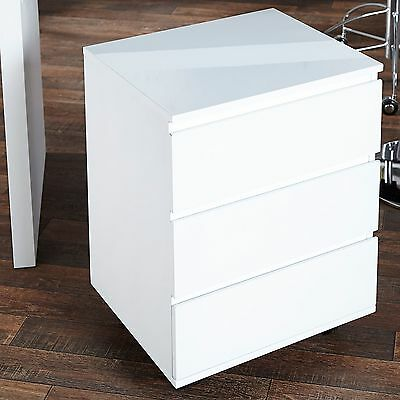MOBILE FILE CABINET MOVE | white, 25x18.5x15.5, wood | filing drawers, pedestal