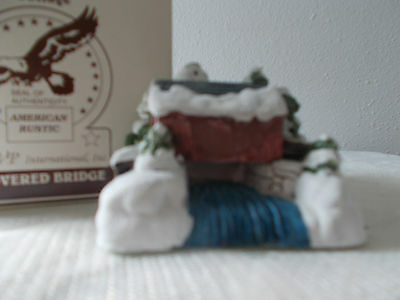 """1989 American Rustic Handpainted ColdCast Cottage BNIB 'Covered Cottage' 2"""""""