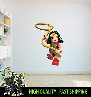 Lego Wonderwoman Printed Wall Art Decor Graphic Sticker Decor Vinyl  Decal
