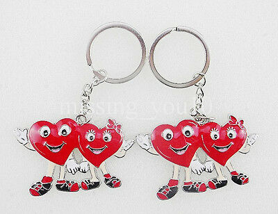 1pcs Big Cute Happy Red Heart Smiling Face Keychain Key Rings Wholesale Lots
