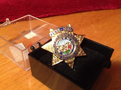 West Covina Police Department Star Pin Anniversary 1936–1986 Souvenir Mini Badge