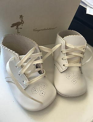 vintage white baby shower gift shoes (1969)