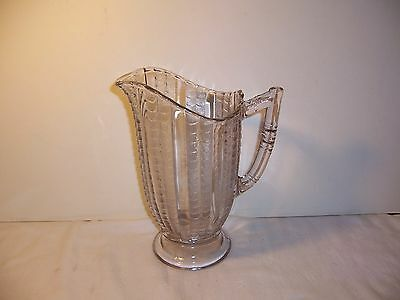 ANTIQUE EAPG FISHSCALE OR CORAL PATTERN PITCHER