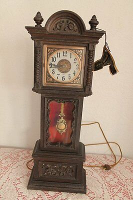 Vintage SPARTUS Grandfather Type Wall Mantle Clock Electric Spartus Clock