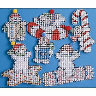 Sweetie Snowman Christmas Ornaments DW1669 Design Works Counted Cross Stitch Kit