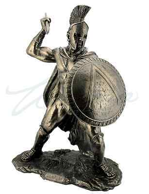 Large Leonidas Spartan King With Spear & Shield Statue Sculpture Figure