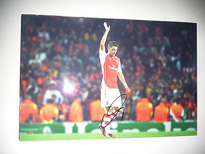 ARSENAL FC GUNNERS MESUT OZIL AUTHENTIC HAND SIGNED PHOTO 8X12