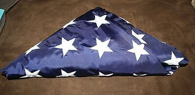Amvets of WWII Korea Vietnam 50 Star American Flag 3x5' Book Bag New Embroidered