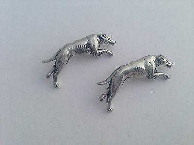 Greyhound D19 Fine English Pewter Animal Dog Cufflinks Handmade In Sheffield