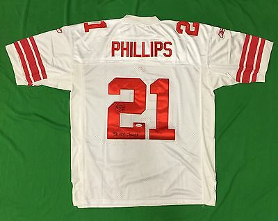 Kenny Phillips Signed New York Giants Jersey SB Champs JSA NFL Autographed