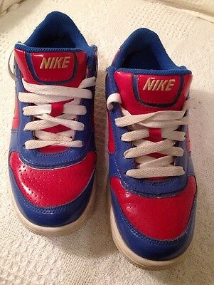 NIKE AIR FORCE 1 Sz 4.5 Youth Sneakers  Retro Red & Blue
