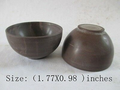 The ancient Chinese old jade polished by hand. A pair of bowl/