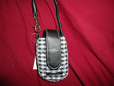 Longaberger Black and White Check Phone Case--new with tags