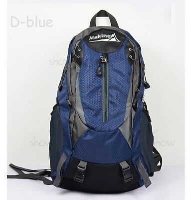 090 blue Men women Sports Hiking Camping Travel outdoor Backpack Daypack Bag 40L