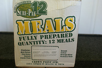 2 Full Cases of Sure Pac 12 MRES Menu #4 -GREAT FOR CAMPING OR HUNTING SEASON