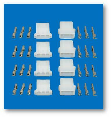 Strobe AMP Connectors w/ Pins Set of 4 male and female connectors with all pins
