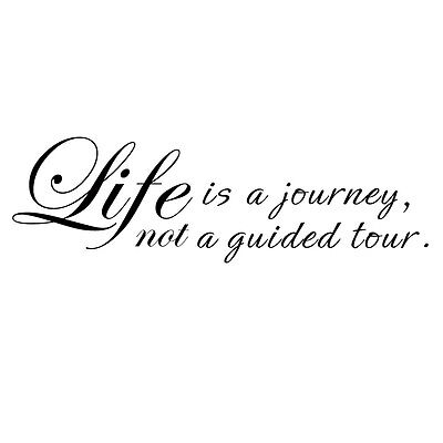 Inspired Wall Decal Quote Life is journey House vinyl living room family Decor