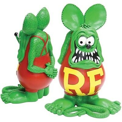 "RAT FINK GREEN LARGE STATUE 12""  HARD TO GET IN THE STATES MADE OUT OF RESIN"