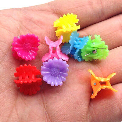 NEW Free shipping 30pcs Fashion Mixed colors Plastic Hair Clip Clamp 3Ab