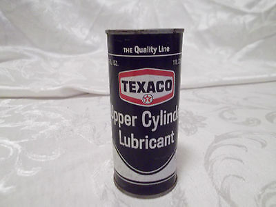 Vintage TEXACO unopened can Upper Cylinder Lubricant 4 oz. 1967