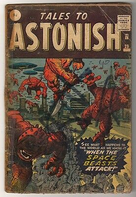 Marvel Comics G-  #29 TALES TO ASTONISH  1962