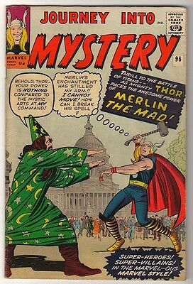 Marvel Comics 5.5  THOR  #96  JOURNEY INTO MYSTERY  FN+ avengers MERLIN THE MAD