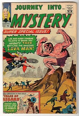 Marvel Comics 5.5  THOR  #97  JOURNEY INTO MYSTERY  FN+ avengers LAVA MAN
