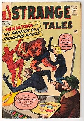 MARVEL STRANGE TALES 108  KIRBY DITKO  FN- Human torch FF4