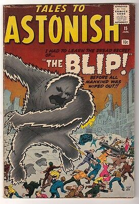 Marvel Comics VG/F  #15 TALES TO ASTONISH  BLIP 1961 4.5 Electro proto type-ish