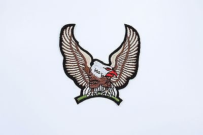 BROWN EAGLE MOTORCYCLES BIKER Embroidered Iron on Patch-Bird Patch