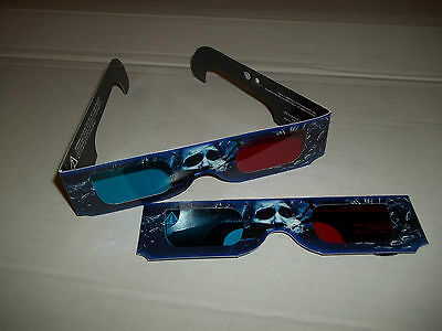 LOT OF (2)  THE FINAL DESTINATION  3D  GLASSES FROM THE DVD MOVIE  NEVER USED
