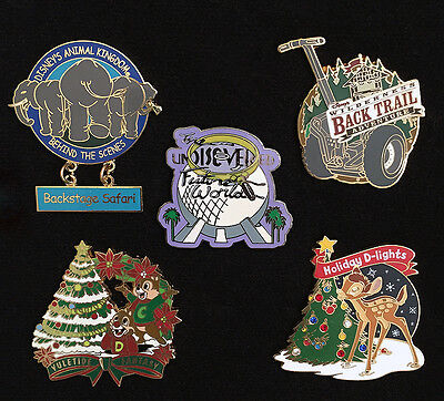 Disney BEHIND the SCENES TOUR PINS Set of 5! EPCOT, SEGWAY, AK, HOLIDAY LE PINS!