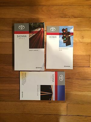 2011 TOYOTA  SIENNA OWNERS  MANUAL  NO CASE