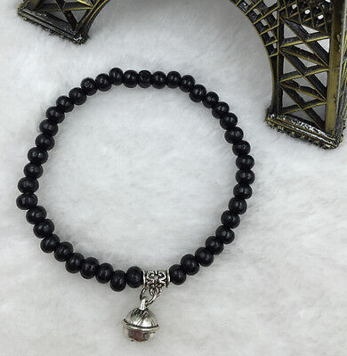 Fashionable manual creation 4 mm ebony buddhist prayer beads mala man bracelet