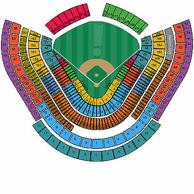 1-4 Tickets Los Angeles Dodgers vs Angels 4/4 54RS TicketFast