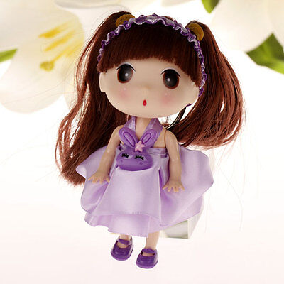 Pretty Purple Dressing Korea Ddung Cell Phone Backpack Keychain Girls Party Gift