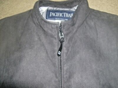 Womens Vest Pacific Trail  Gray Size Large Sueded Feel Ships Free!