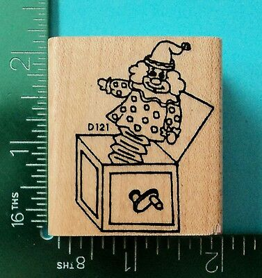 JACK IN THE BOX Rubber Stamp by LASTING IMPRESSIONS  BABY / CHILD TOY