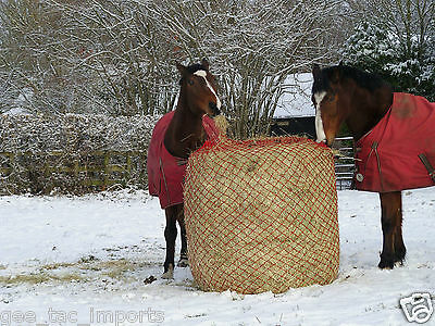 GEE TAC  LARGE ROUND BALE SMALL HOLE  4ft.+ HORSE HAYLAGE NET ( 2 )  FEED BAG