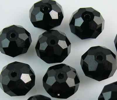100pcs 4mm DIY Jewelry Faceted Rondelle crystal #5040 3x4mm Beads Black colors B