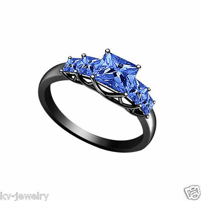 LATEST MODERN DELICATE BLUE SAPPHIRE 1.71 CT 925 STERLING SILVER ENGAGEMENT RING