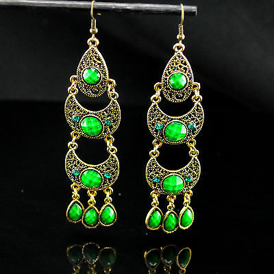 Hollow out long earrings hanging earrings with a pair of restoring ancient ways