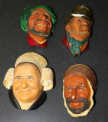 Lot of 4 Vintage Bossons Congleton England Heads