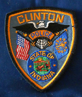 Clinton, Indiana Police Shoulder Patch (invp199)