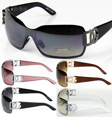 New DG Eyewear Womens Mens Shield Designer Sunglasses Shades Fashion Retro 859