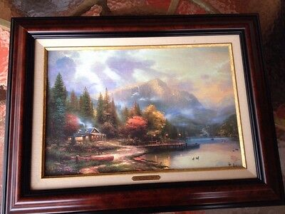 "thomas kincade painting On Canvas ""End Of A Perfect Day III"" Second Edition"
