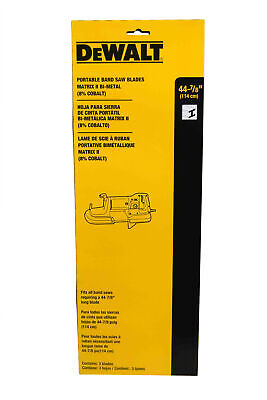 "DeWalt DW3983C Cordless Bi-Metal Band Saw Blades 32-7/8"" 18 TPI"