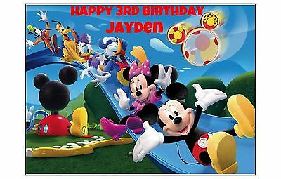 Mickey Mouse Clubhouse edible Image Cake topper Decoration Birthday party Disney